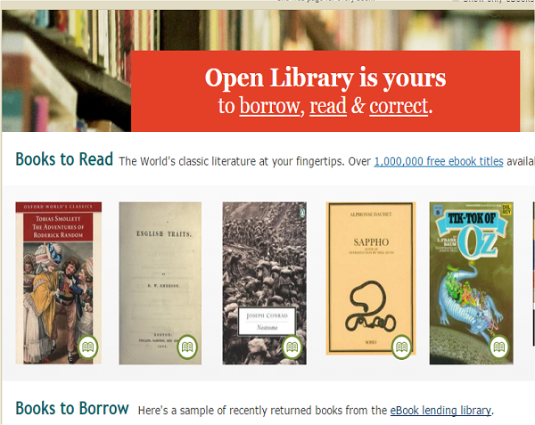 download free ebooks legally from open library