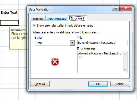 error messages in excel error alert