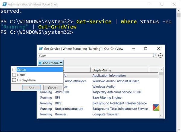 How to export Windows Services list