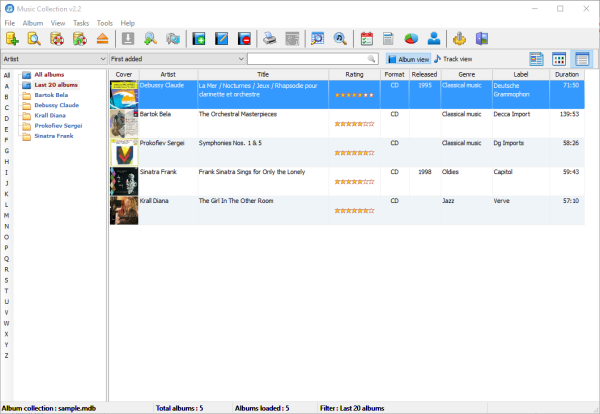 Music Collection software for Windows PC