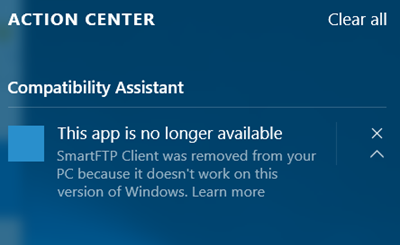 windows 10 this app is no longer available
