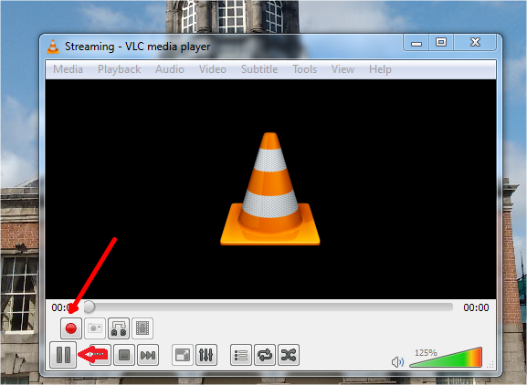 video recording button in vlc