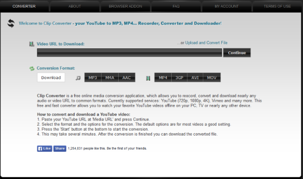 Convert YouTube videos to MP3 or MP4