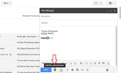 Dropbox for Gmail extension for chrome