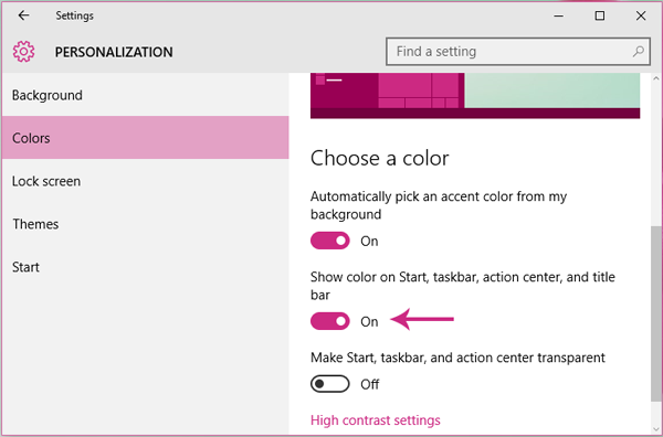 Enable colored Title Bar for inactive windows in Windows 10