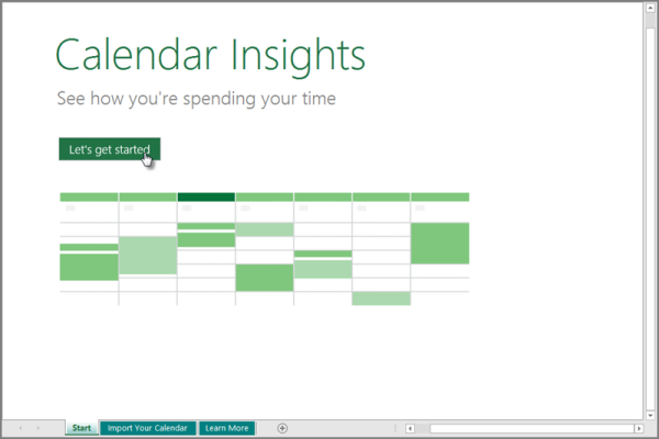 calendar insights excel 2016