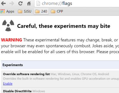 offline browsing in google chrome enable chrome flags