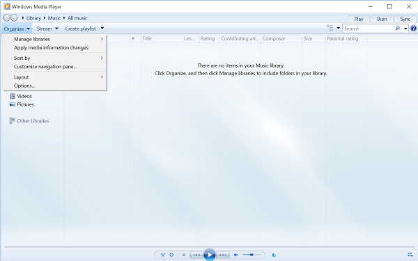 Speed up Video Streaming in Windows Media Player
