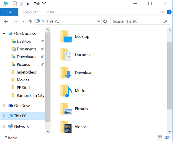 show or hide folders from this pc in windows 10 6 folders