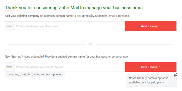 Create custom email ID with Domain using Zoho Mail