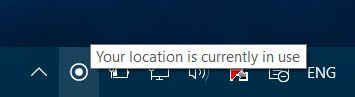 Your location is currently in use 1