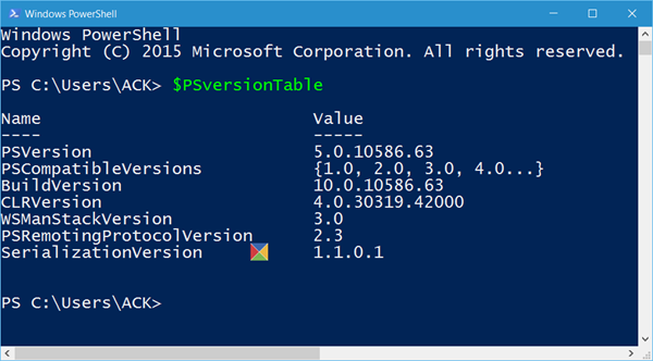 check PowerShell version