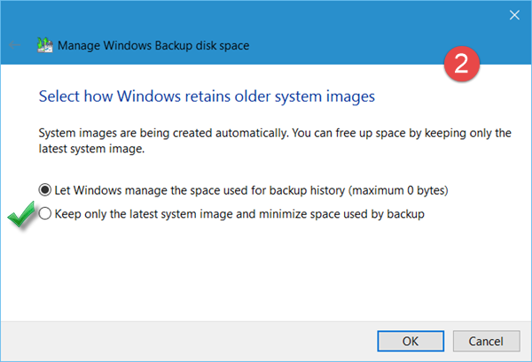 delete previous System Image backups 4