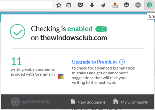 grammarly for firefox chrome