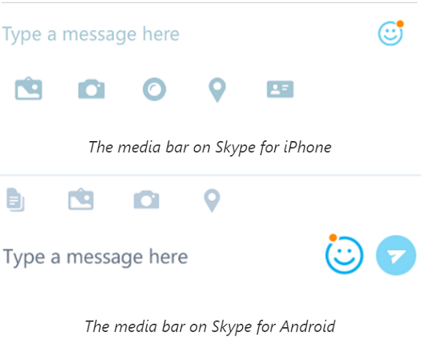share photos, files with Skype