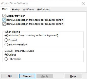whysoslow settings