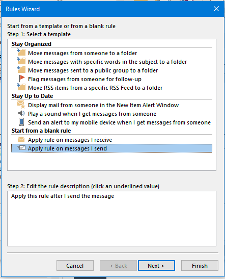 Delay sending messages in Outlook