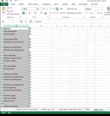 remove Blank Cells from Excel