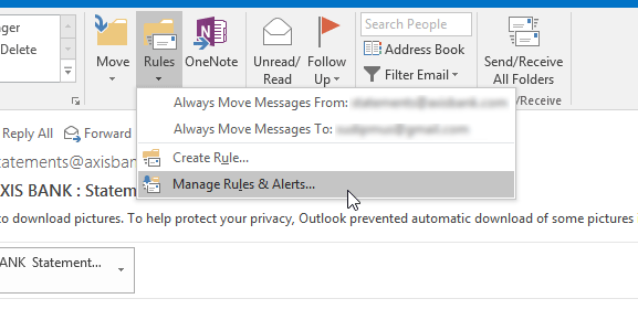 Export or Import Rules in Outlook