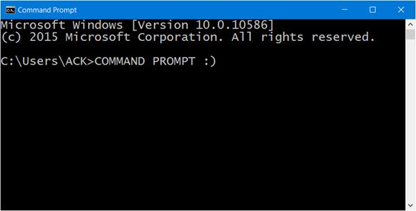 Launch Command Prompt in Windows 10