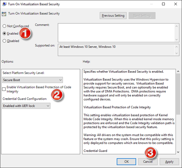 Enable Credential Guard windows 10