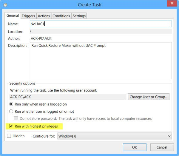 Autostart Programs as Administrator
