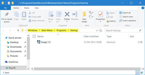 Make Programs run on startup in Windows