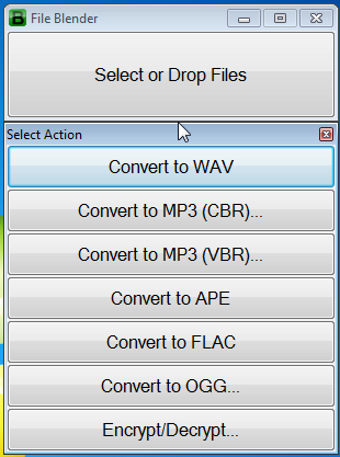 File Blender Conversion Options For MP3 File