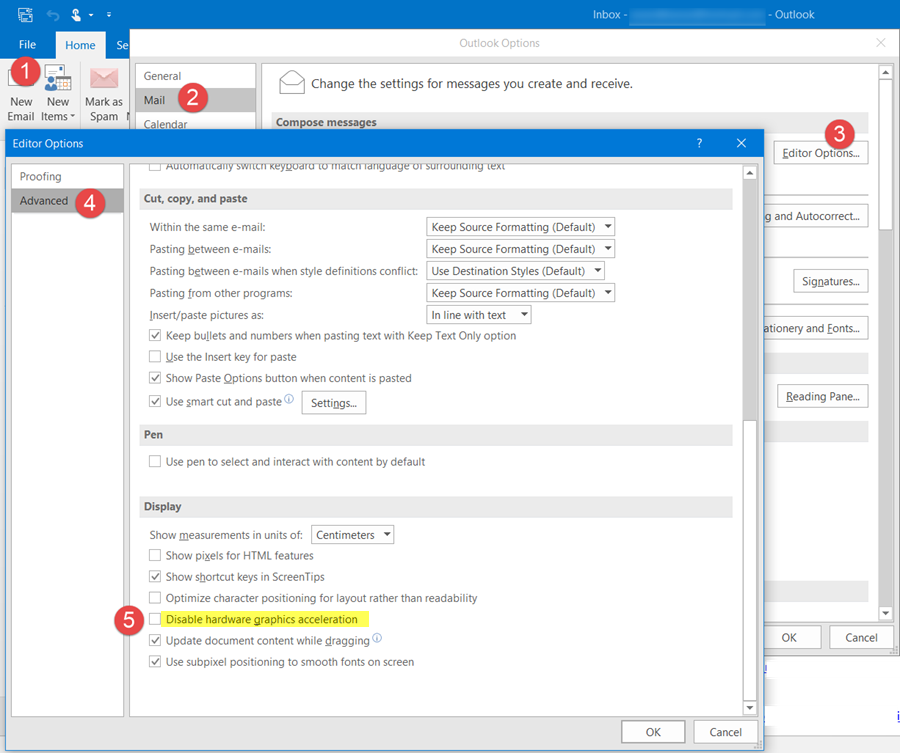 Outlook has stopped working, is not responding, freezes or hangs