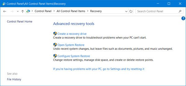 Restore, Refresh, Reset Surface Pro