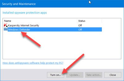 Enable or Start Windows Defender 5