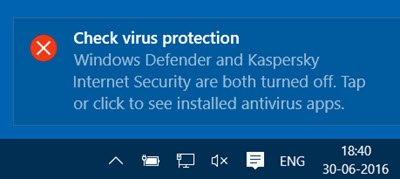 Enable or Start Windows Defender