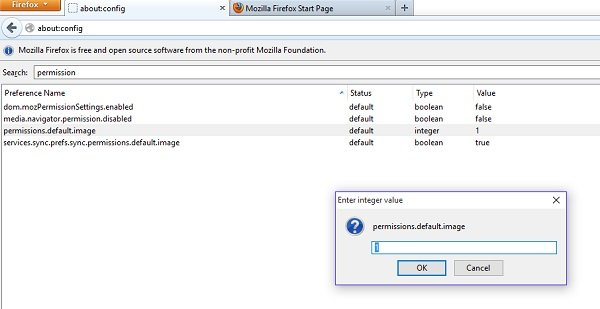 disable images in firefox