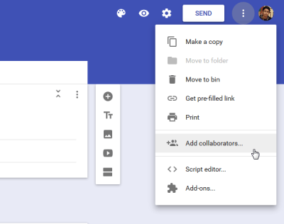 Add collaborators Google Forms tips and tricks