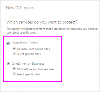 Data Loss Prevention Policies