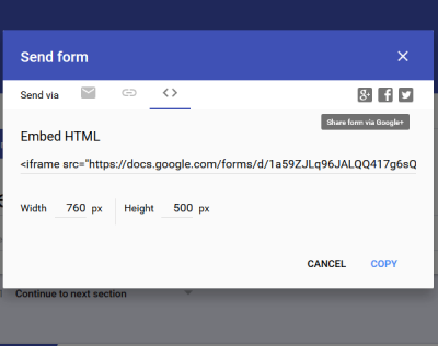 Embed Google Form on webpage Google Forms tips and tricks