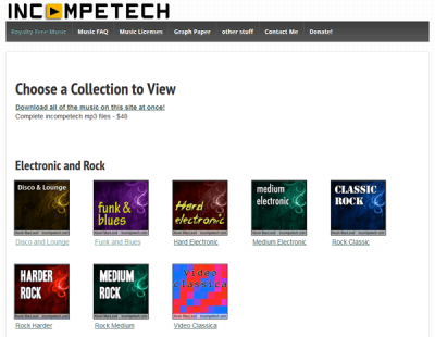 Incompetech Best websites to download royalty free music for YouTube