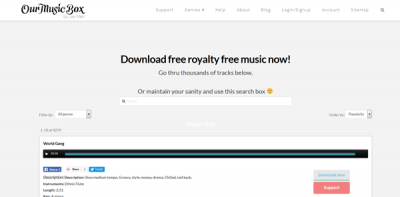 Our Music Box download royalty free music for YouTube