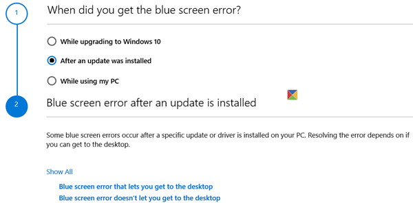 Windows 10 Blue Screen Troubleshooter