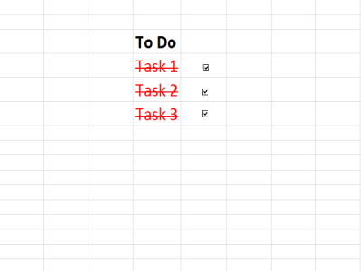 Create a Checklist in Excel