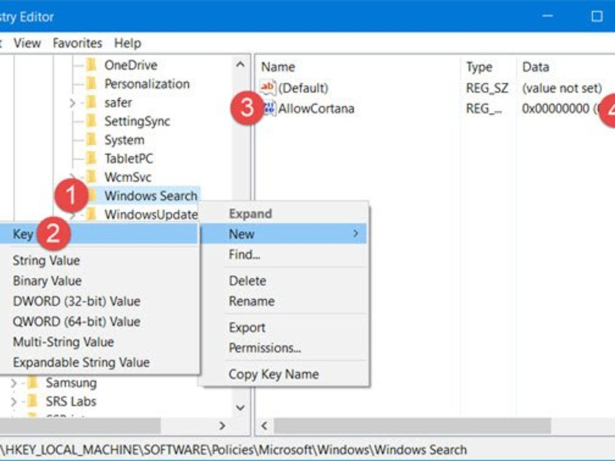 Completely Disable Cortana In Windows 10 Via Registry Or Group Policy