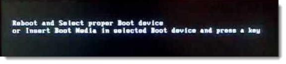 reboot and select proper device