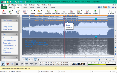 Play with audio files like a pro using NCH Wavepad Audio Editor