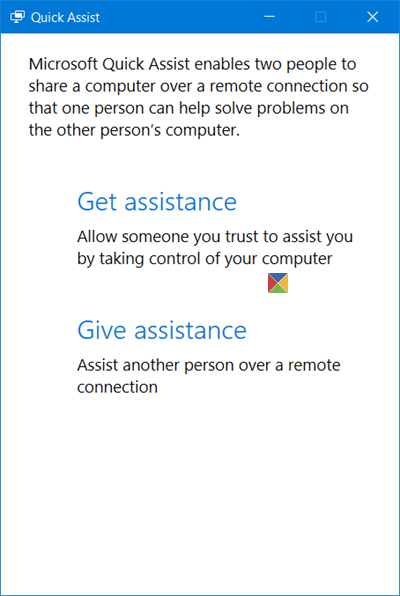 Quick Assist Windows 10