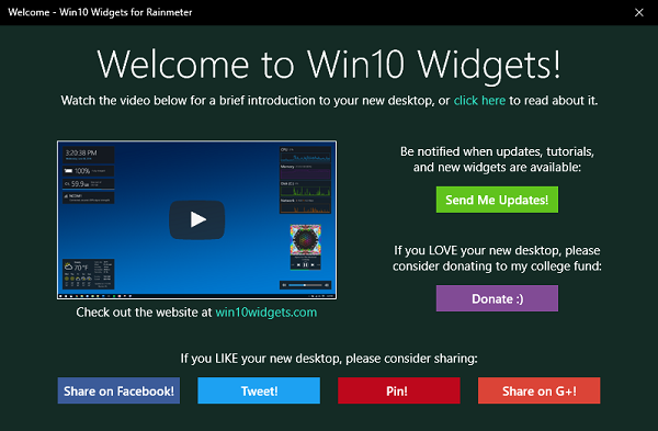 Win10 Widgets - Bring the power of Widgets on Windows 10