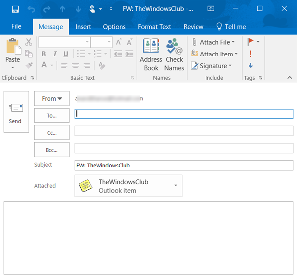 attach sticky note to outlook email