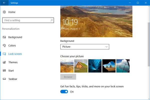 Disable Windows 10 Lock Screen Ads and Tips