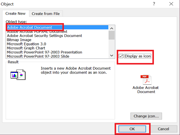 How to Insert PDF File in Excel Sheet