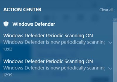 enhanced notifications windows defender