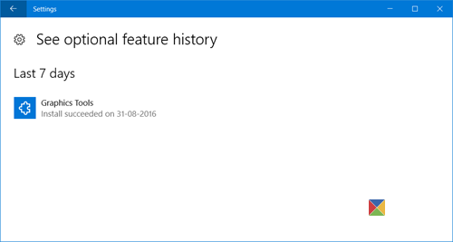 manage Windows 10 optional features